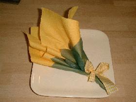 Pliages de serviettes - Pliage avec deux serviettes en papier ...