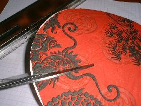 decoration de table chapeau chinois