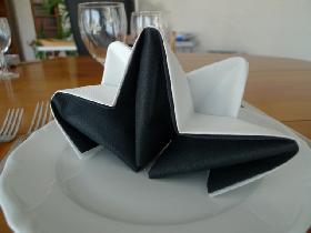 etoile bicolore pliage serviette - Pliage De Serviette En Papier 2 Couleurs Facile