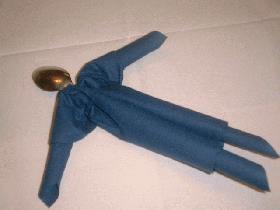 M. Bonhomme   pliage serviette