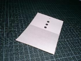 vous obtenez ainsi votre carte où vous pouvez indiquer votre menu ou un mot pour votre invité