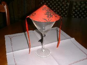 poser sur un verre cocktail