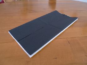 pliage de serviette en étoile bicolore - étape 2