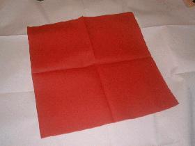 Prendre une serviette carrée