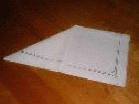 puis plier le carré de gauche afin d'obtenir un triangle rectangle